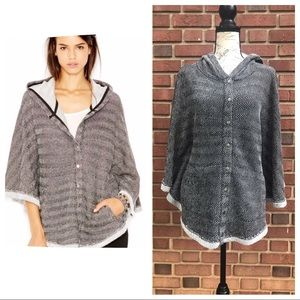 Lucky Brand Cape Hooded Poncho
